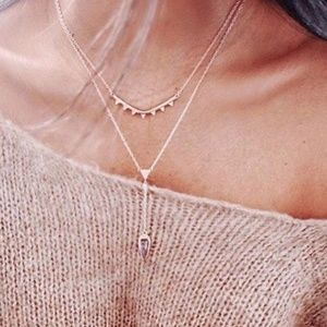 :: Gorgeous Stella & Dot Rose Gold Necklace